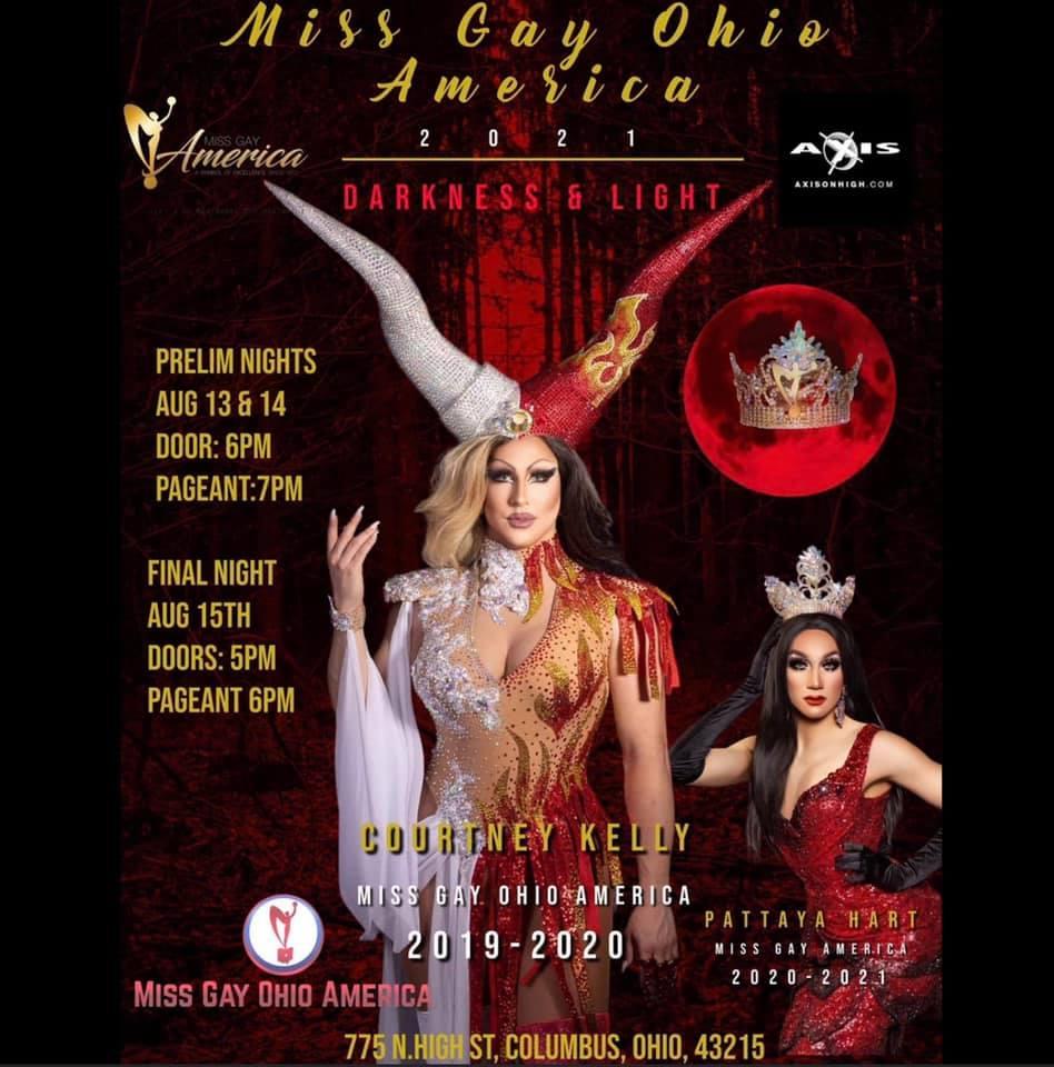 Ad | Miss Gay Ohio America | Axis Nightclub (Columbus, Ohio) | 8/13 - 8/15/2021