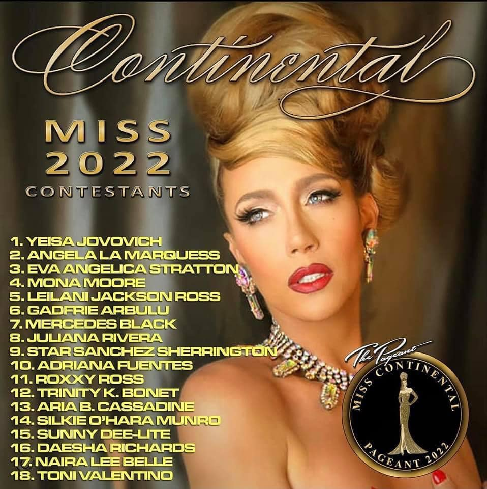 Miss Continental 2022 Contestants