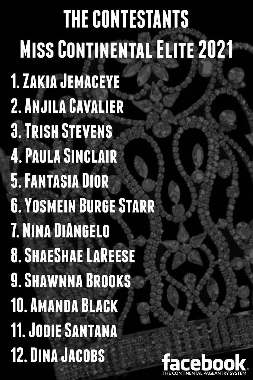 Miss Continental Elite 2021 Contestants