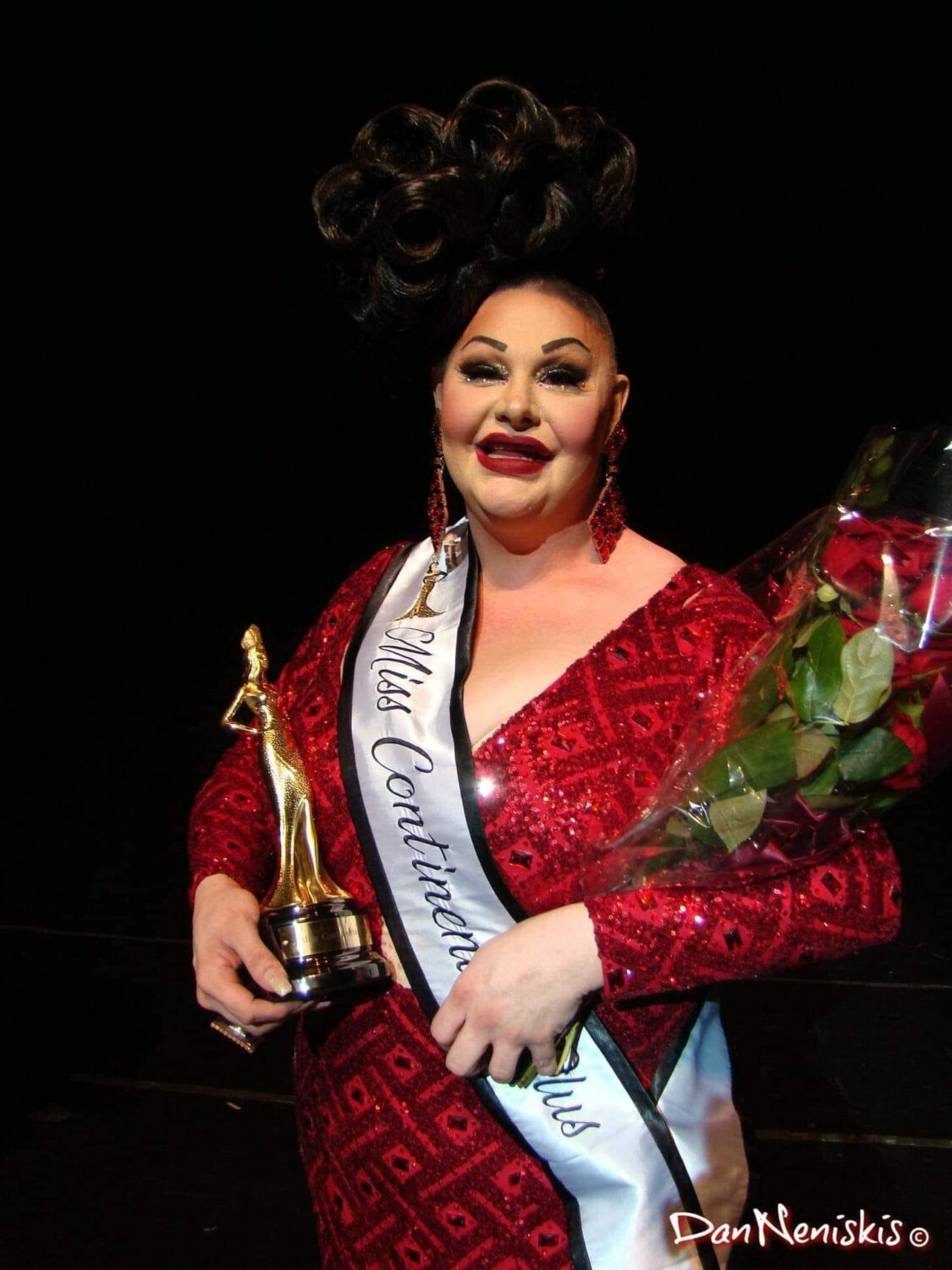 Britney Tyler after being crowned Miss Continental Plus   The Vic (Chicago, Illinois)   9/5/2021 Photo by Dan Neniskis