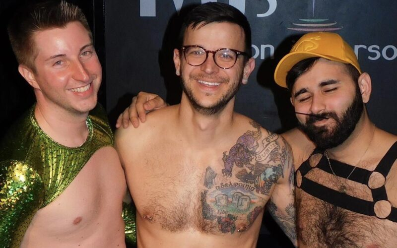 Dane Decardeza, Johnny Dangerously and Andy Candy at MJ's on Jefferson (Dayton, Ohio) | March 2019 CROPPED