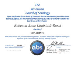 The American Board of Sexology - Rebecca Lindstadt-Rossi - 21106