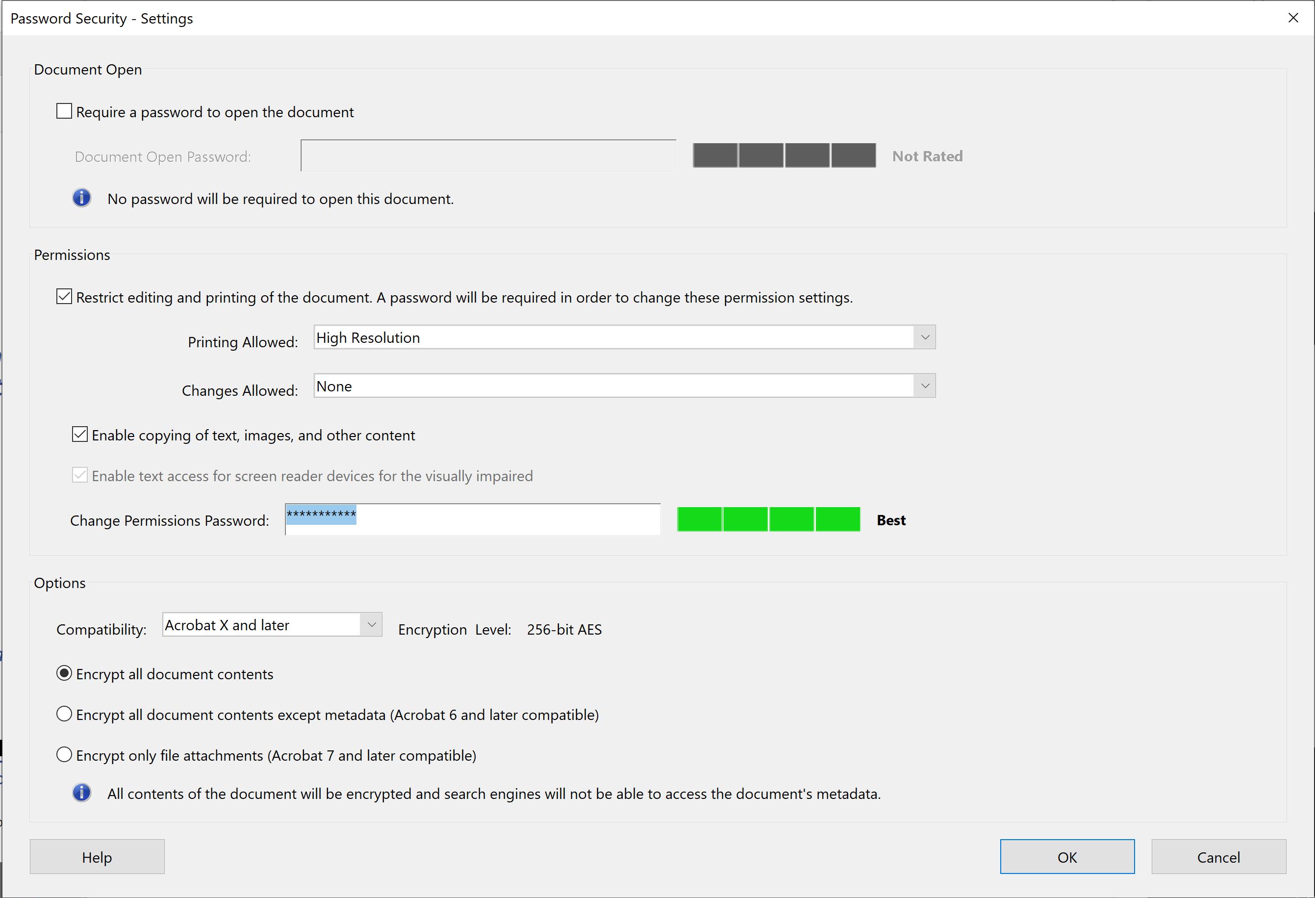 Diplomate Adobe PDF Certificate Security
