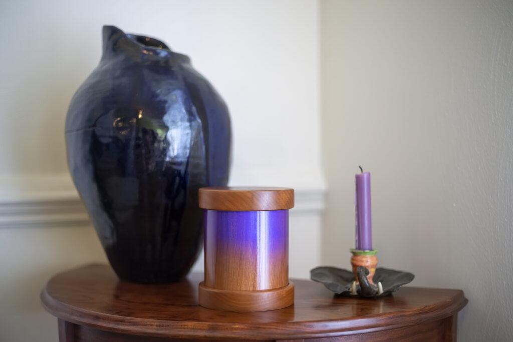 Metallic Purple Haze Cherry Pet Urn