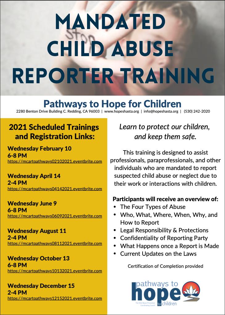 Mandated Child Abuse Reporter Training