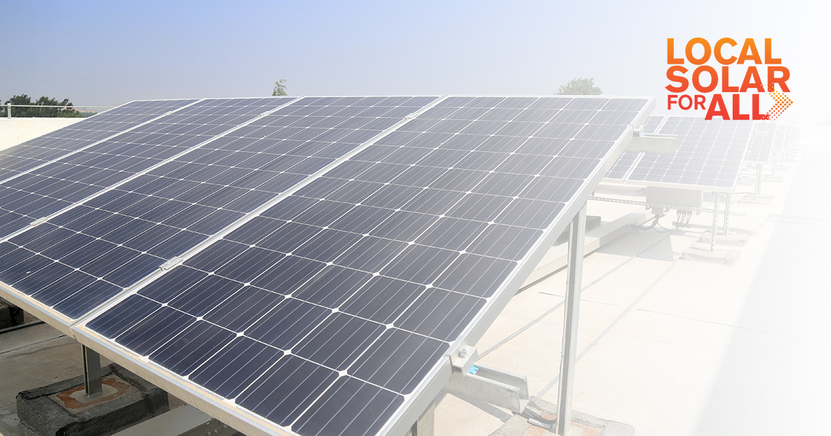 """Rooftop and Community Solar Team up to Launch """"Local Solar for All"""" Campaign"""