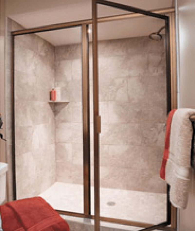 neo angle shower door near volusia county