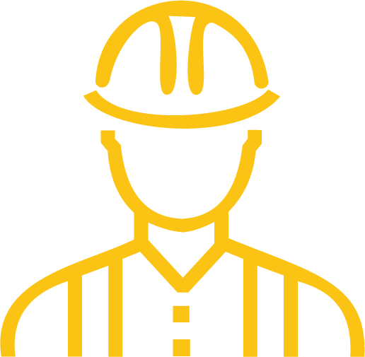 AllTek Staffing Construction Graphic - graphic outline of a construction worker