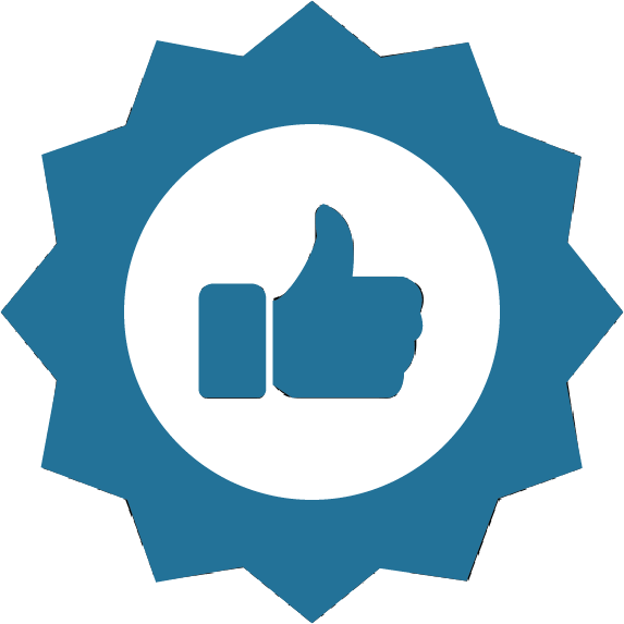 TOPS Staffing QA/QC graphic - thumbs up inside of a quality seal