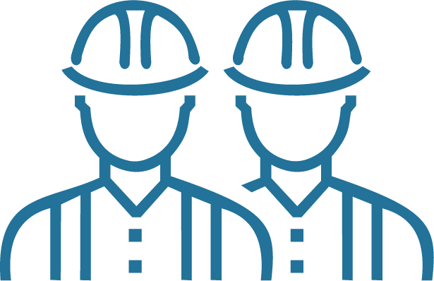 TOPS Staffing General Labor & Fabricating Graphic - two construction workers graphic