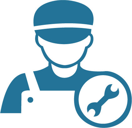 TOPS Staffing General & Skilled Assembly graphic - graphic of a laborer with a wrench next to them