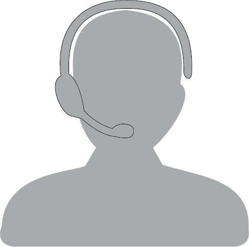 Sterling Office Professionals - Customer Service Representatives Graphic - Outline of a person wearing a headset