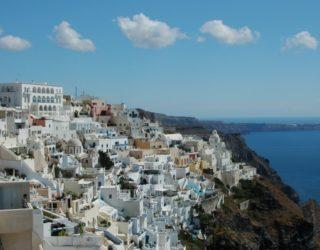 fira in santorini, greek isles