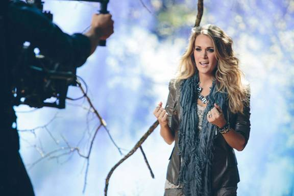 Carrie Underwood Little Toy Guns BTS - countrymusicrocks.net