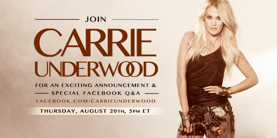 Carrie Underwood Special Announcement - CountryMusicRocks.net