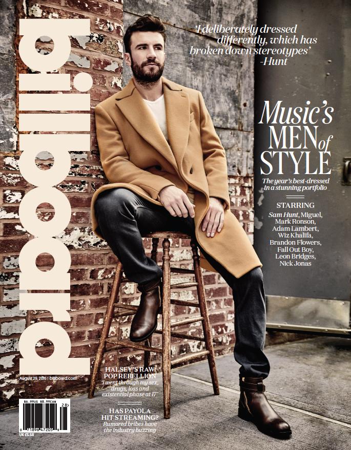 Sam Hunt Billboard Men of Music - CountryMusicRocks.net