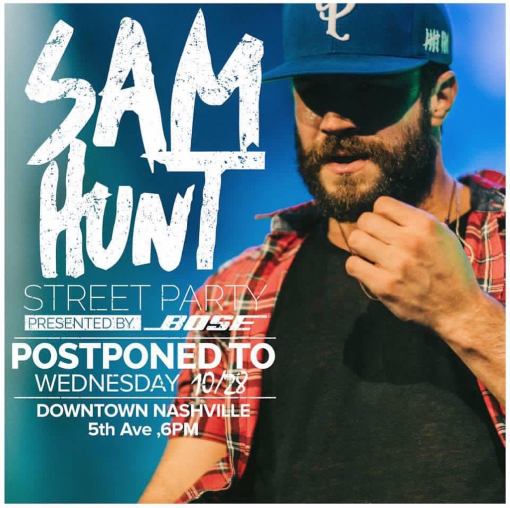Sam Hunt Free Street Party - CountryMusicRocks.net