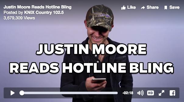 Justin Moore Hotline Bling - CountryMusicRocks.net