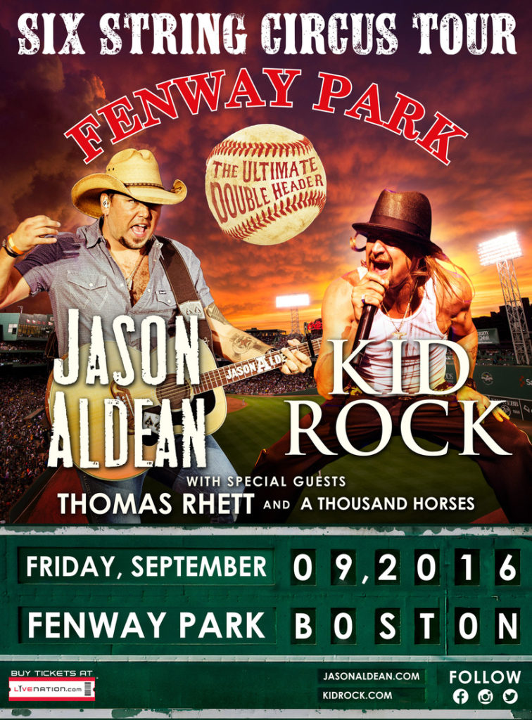 Jason Aldean Kid Rock Fenway Park - CountryMusicRocks.net