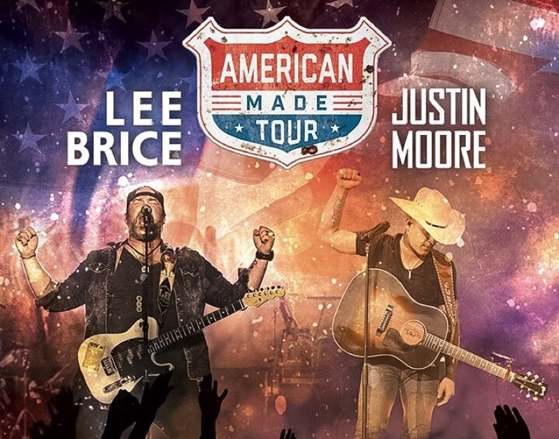 Lee Brice Justin Moore American Made Tour