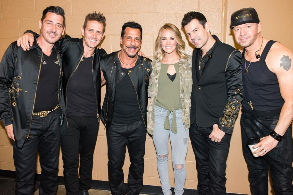 Carrie Underwood and NKOTB