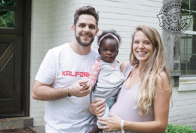 Thomas and Lauren Rhett Akins with Daughter Willa
