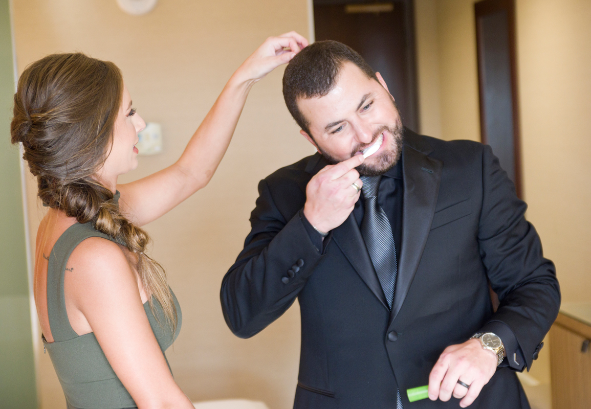 Tyler Farr and Wife Hannah Prepping fro CMA Awards