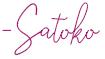 satoko-signature