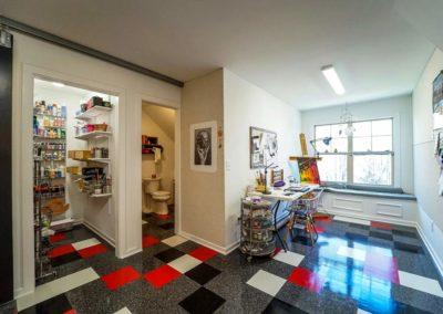 Attic Remodel Artist Studio Storage Room and Bathroom