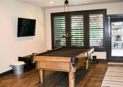 billiard room added to renovated basement