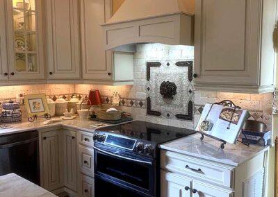 new kitchen cabinets and tile backsplash