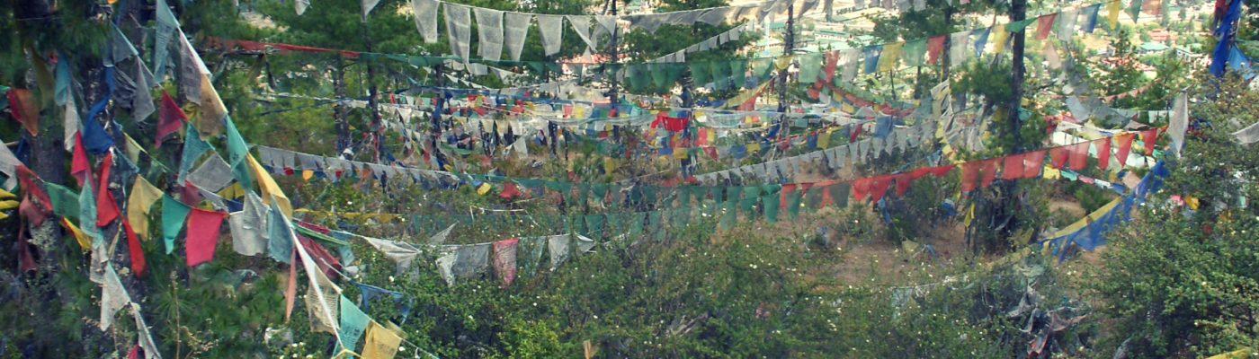 Prayer flags at La Docha Pass