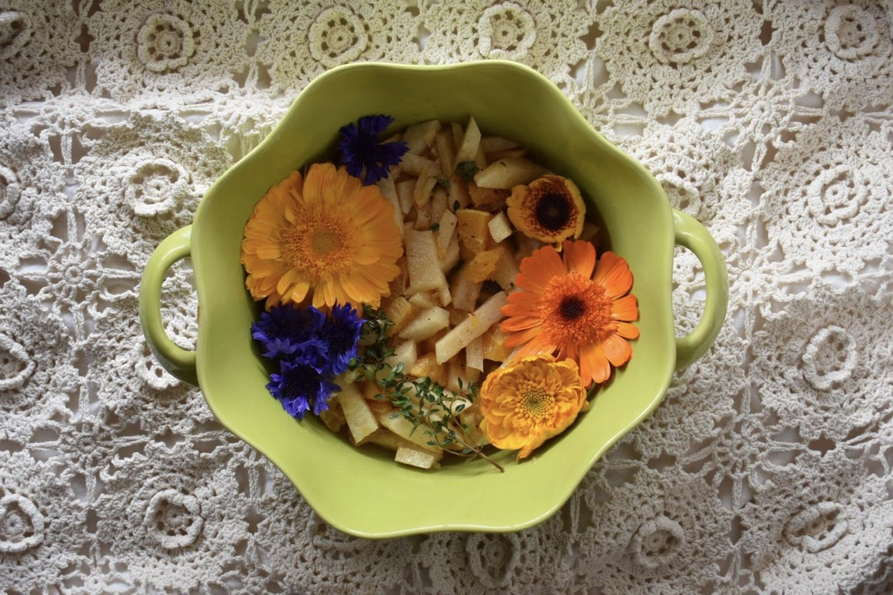 Lemon Thyme/Jicama/Orange Splendor