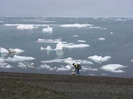 The Arctic Ocean at Ukpiagvik (Barrow), Alaska