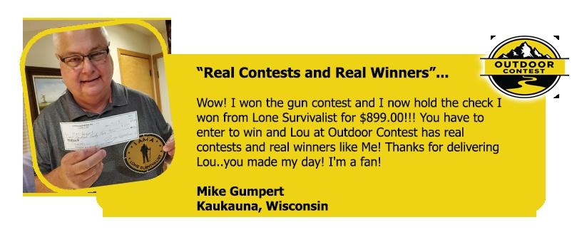 Winner Testimonials
