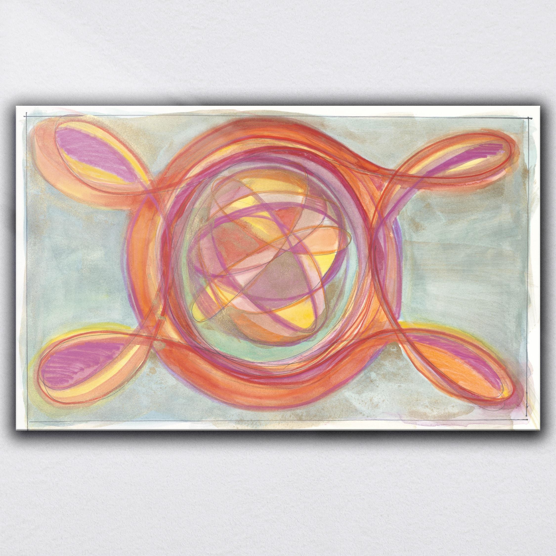 """Atomic Love""  2020     Original Painting 12 x 20 inches Watercolor, iridescent and metallic media on Moleskin Folio Paper"