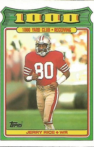 1988 Topps 1000 Yard Club #004 Jerry Rice