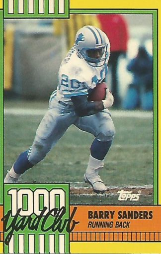1990 Topps 1000 Yard Club #3 Barry Sanders