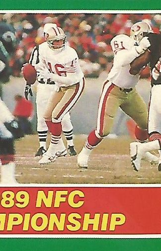 1989 Score #274 Joe Montana NFC