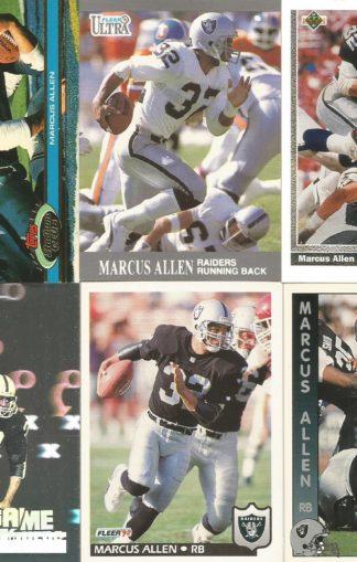 Marcus Allen Cards Lot 3