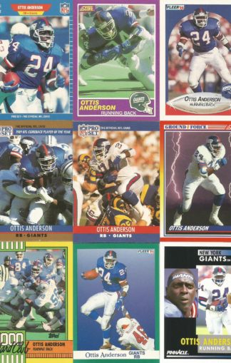 Ottis Anderson Cards Lot 2