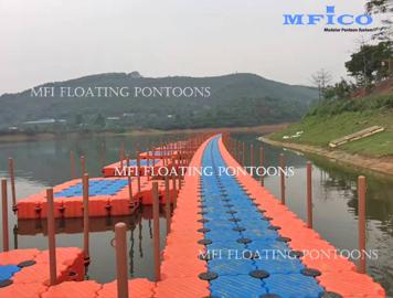 hdpe pontoons fishing dock