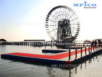 plastic floating dock platform