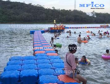 hdpe plastic pontoons swim dock