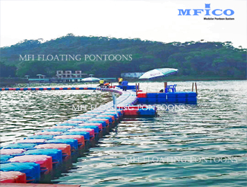 hdpe plastic pontoons swimming pool