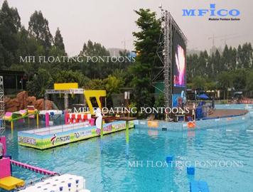 hdpe plastic pontoons swim pool