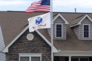 U.S. Flag and flagpole at the home of Sgt. Nielson, DE