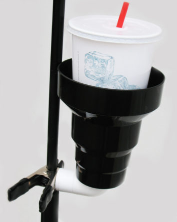 mic stand cup holder,mic stand drink holder,microphone stand cup holder,musicians cup holder,clamp on cup holder,clip on cup holder