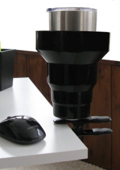 clamp on cup holder,clip on cup holder,desk cup holder,clip on cup holder,clamp on cup holder