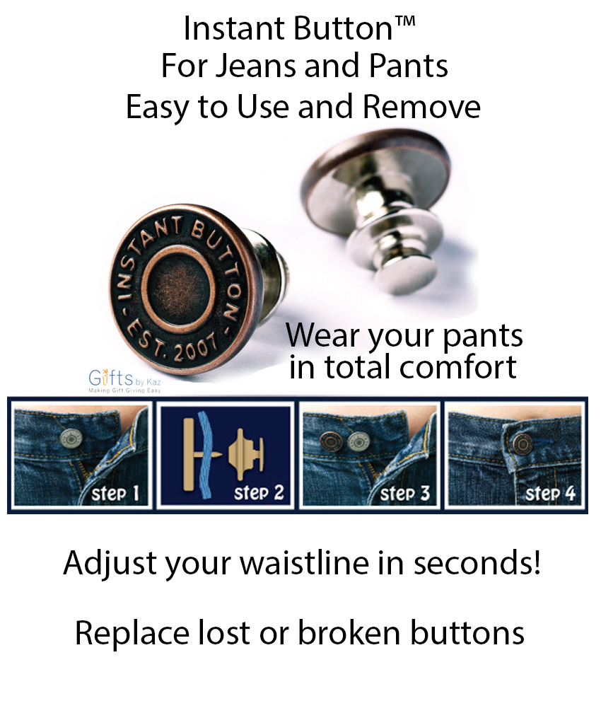 jeans button,jeans button replacement,replace jeans button,Instant button for jeans,adjust pants waistline,perfect fit button